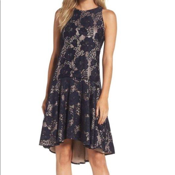 Eliza J Dresses & Skirts - NWT Eliza J Navy Sleeveless Lace Dress